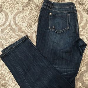 INC curvy fit, straight leg jeans. Size 14